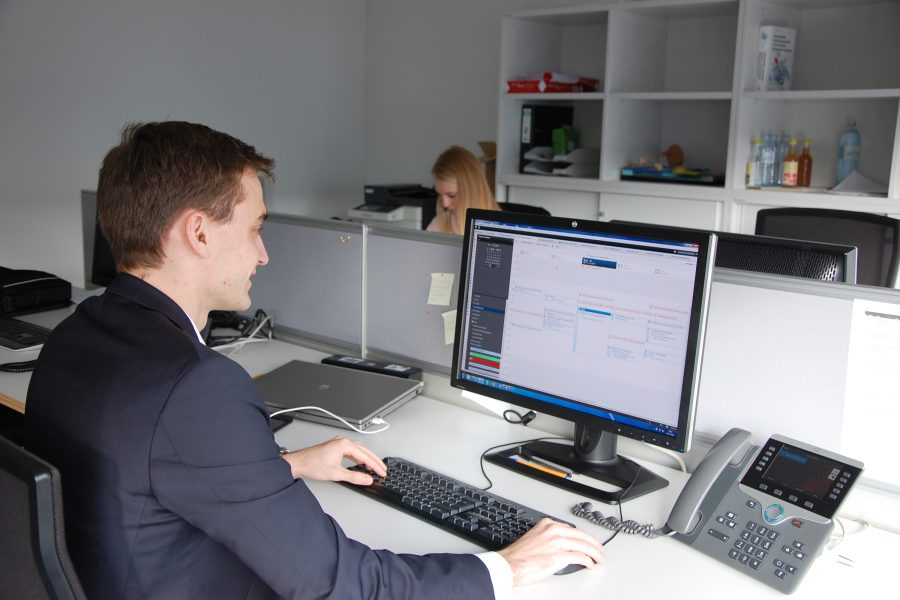 Stephan Stadlmair im Büro