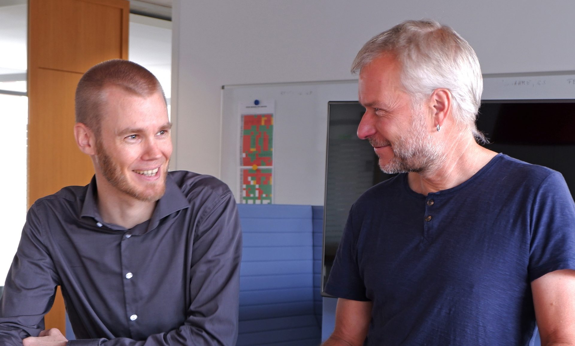 Dieter Schrottshammer and Raphael Schnückel are now jointly taking care of the third graduation project at our company.