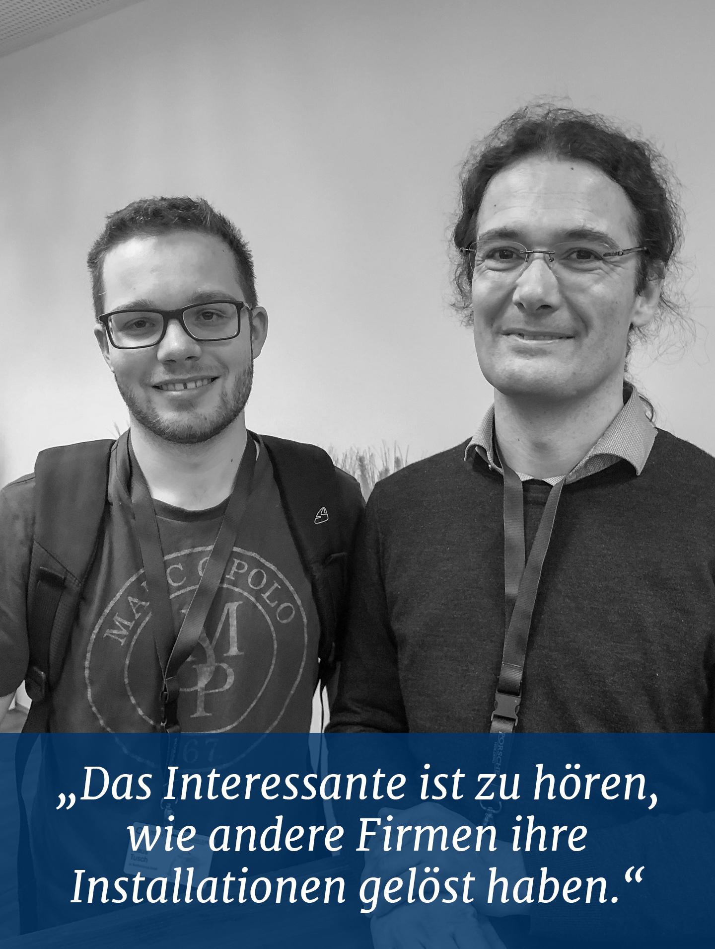 """Klaus Tusch und Udo Rader von BestSolution.at """"Das Interessante ist zu hören, wie andere Firmen ihre Installationen gelöst haben"""""""